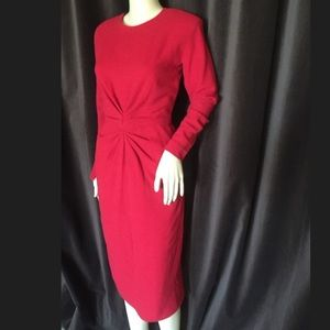 Givenchy Couture Vintage Red Audrey Hepburn Dress